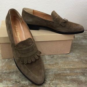 NEW Robert Clergerie Tan Suede Loafers 8.5 AA
